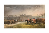 Hyde Park, the Princess Passing the Lines of the Volunteers, 7 March 1863 Giclee Print by Robert Dudley