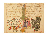 Scene from the Only known Illustrated Manuscript of the Poem, the Romance of Varqa and Gulshah,… Giclee Print