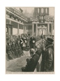 Distribution of Maunday Charity at Whitehall Giclee Print by Godefroy Durand