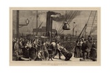 To Scotland by Sea - a Sketch at Irongate Wharf Giclee Print