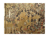 Detail of a Folding Screen Which Depicts the Siege of Osaka Castle (1615) Giclee Print
