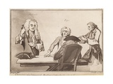 Characters Who Frequented Button's Coffee House About the Year 1720s: Dr Garth, Pope Giclee Print
