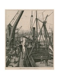 Shipping Material at Woolwich for the Souakim Railway Giclee Print by William Heysham Overend