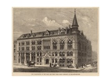 New Dock House of the East and West India Dock Company in Billiter Square Giclee Print by Frank Watkins