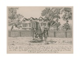 The House of the Latymere in Hackney Giclee Print by Wenceslaus Hollar