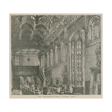 The Banqueting Hall, Crosby Hall, London Giclee Print by Henry William Brewer