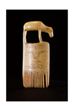 Comb with Incised Design and Decorated with an Animal Form Wydruk giclee