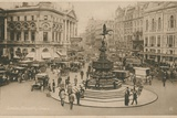 Piccadilly Circus, London Photographic Print by  English Photographer