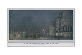 As the Dusk Deepens into Dark - a Scene in Park Lane Giclee Print by Cecil King