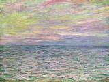 On the High Seas  Sunset at Pourville; Coucher De Soleil a Pourville  Pleine Mer  1882