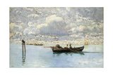 On the Venetian Lagoon Giclee Print by Guglielmo Ciardi