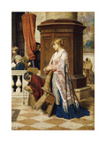 Temptation in the House of God, 1881 Giclee Print by Luigi da Rios