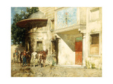 Outside the Mosque Reproduction procédé giclée par Alberto Pasini