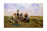 The Haymakers' Lunch, 1857 Giclée-Druck von Jules Veyrassat