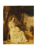 Portrait of Mary Freer Seated Small Full Length on a Garden Seat Giclee Print by William Powell Frith