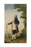 The Baron De Bombelles in the Tuileries, 1765 Giclee Print by  Carmontelle