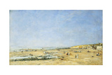 Trouville, General View of the Beach; Trouville, Vue Generale De La Plage, 1890 Giclee Print by Eugène Boudin