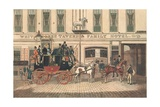 White Horse Tavern and Hotel, Fetter Lane, London Giclee Print by James Pollard