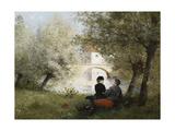 Along the River; Au Bord De La Riviere Giclee Print by Jules Frederic Ballavoine