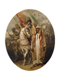 Arab Warriors Advancing, 1855 Giclee Print by Amadeo Preziosi