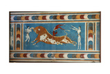 Bull Fighting Fresco, from Knossos, Painted around 1550-1450 BC Giclee Print