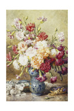 Carnations in the Albarello Giclee Print by Francois Rivoire