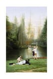 Flirtation, 1885 Giclee Print by Georges Croegaert
