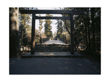 Ceremonial Gateway, or Torii, Ise Giclee Print