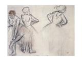 Study of Dancers; Etude De Danseuses Giclee Print by Edgar Degas