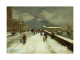 A Blustery Winter Day Giclee Print by Carlo Brancaccio