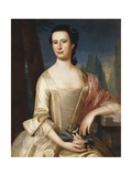 Portrait of a Woman, 1755 Giclee Print by John Singleton Copley