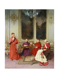 The Conference Giclee Print by Georges Croegaert