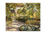 Alcazar Gardens, Seville Giclee Print by Colin Campbell Cooper