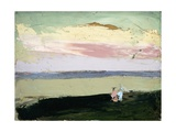Coastal Scene at Sunset Giclee Print by Robert Henri