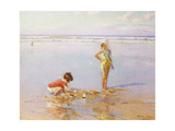 Children Playing on a Beach Giclee Print by Charles-Garabed Atamian