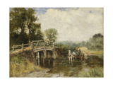 At the Crossing Giclee Print by Henry John Yeend King