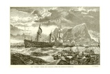 "The ""Victory"" Towed into Gibraltar after the Battle of Trafalgar Giclee Print"