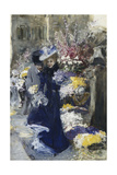 The Flower Seller Giclee Print by Friedrich Stahl