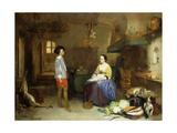 In the Kitchen Giclee Print by Hubertus van Hove