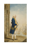 The Duke of York on a Quay in a Flag Officer's Uniform, 1768 Giclee Print by  Carmontelle