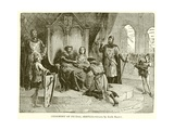 Ceremony of Feudal Service Giclee Print by Emile Antoine Bayard