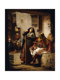 A Visit from the Chieftain Giclee Print by Frederick Arthur Bridgman