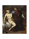 The Rape of Lucretia Giclee Print by Alessandro Varotari