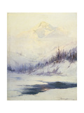 Winter Morning, Mount Mckinley, Alaska Giclee Print by Sidney Laurence