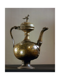Brass Ewer with Baluster-Shaped Body, Bird Finial on Lid, Handle and Spout in the Form of a… Giclee Print