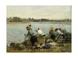 Washerwomen at La Torque; Les Lavandieres a La Touque Giclee Print by Eugene Louis Boudin