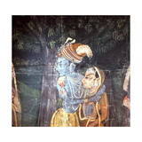 A Detail of a Wall Hanging with Scenes from the Legend of Krishna Giclee Print