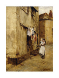 A Street in Newlyn Giclee Print by Walter Langley