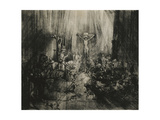Christ Crucified Between the Two Thieves - 'The Three Crosses', C.1653-1661 Giclee Print by  Rembrandt van Rjin