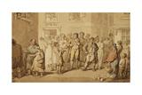 Street Musicians, 1823 Giclee Print by Thomas Rowlandson